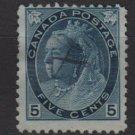 CANADA 1899 - Scott 79 used - 5c, Queen Victoria  (W-152)