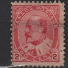 CANADA 1903/08 - Scott 90 used - 2c, King Edwar VII   (2 - 138)