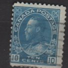 CANADA 1911/25 - Scott 117 used - 10c King George V   (10-185)