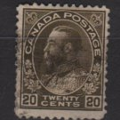 CANADA 1911/25 - Scott 119 used - 20c King George V  (10-188)