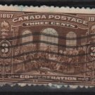 CANADA 1917 - Scott 135 used -3c, 50th nniv. of the Canadian Confederation  (10-190)