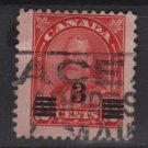 CANADA 1932 - Scott 191 used - 3c on 2c,  George V, Surcharged issue  (10-203)