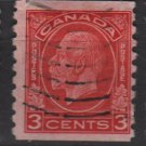 CANADA 1933 - Scott 207 coil, used  - 3c, George V type of 1932 (10-208)