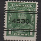 CANADA 1935 - Scott 217 precancel. used - 1c, King George V    (10-214)