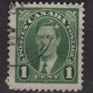 CANADA 1937 - Scott 231sed - 1c,  King George VI (10-220)