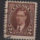 CANADA 1937 - Scott 232 used  - 2c,  King George VI (10-221)