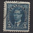 CANADA 1937 - Scott 235 used -  5c, King George VI (10-225)