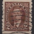 CANADA 1937 - Scott 239 coil used - 2c, King George VI  (10-229)