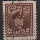 CANADA 1942  - Scott 250 used  - 2c, King George VI  (10-241)