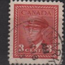 CANADA 1942  - Scott 251 used  - 3c, King George VI  (10-243)