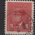 CANADA 1942  - Scott 251 used  - 3c, King George VI  (10-243)