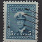 CANADA 1942 - Scott 255 used - 5c, King George VI   (10-249)