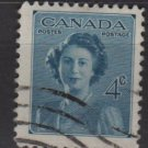 CANADA 1948 - Scott 276 used - 4c, Princess Elizabeth  (10-258)