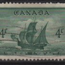 "CANADA 1949 - scott 282 used - 4c, John Cabor's Ship ""Matthew"" (10-264)"