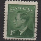 CANADA 1949 - Scott 284 used -  1c, King George VI  (10-265)