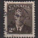 CANADA 1949 - Scott 285 used -  2c, King George VI  (10-267)