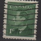 CANADA 1950 - Scott 289 used -  1c, King George VI  (10-275)