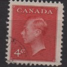 CANADA 1950   - Scott  292  used - 4c,  King George VI  (10-278)