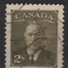CANADA 1951 - Scott 305 used -  2c, King George VI, type of 1949  (10-293)