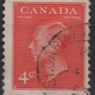 CANADA 1951 - Scott 306 used  - 4c,  George VI type of 1949 (10-295)