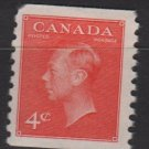 CANADA 1951 - Scott 310 MH COIL - 4c,  King George VI (10-299)