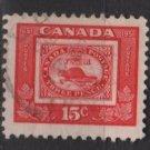CANADA 1951 - Scott 314 used - 15c, Threepenny beaver (10-305)