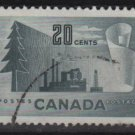 CANADA 1952 - Scott 316  used - 20c,  Paper production (10-308)