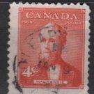 CANADA 1952 - Scott 319 used - 4c,  Alexander Mackenzie (10-314)