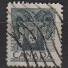 Canada 1953 - Scott 324 used - 4c, bighorn Sheep  (10-318)