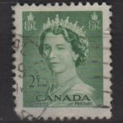 CANADA 1953 - Scott 326 used - 2c Queen Elizabeth II  (10-320)