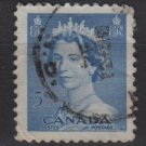 CANADA 1953 - Scott 329 used - 5c Queen Elizabeth II   (10-323)