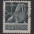 CANADA 1954 - Scott 335 used - 4c, Walruss  (10-332)