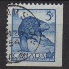 CANADA 1954 - Scott 336 used  - 5c,  Beaver  (10-334)