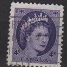 CANADA 1954 - Scott 340 used - 4c Queen Elizabeth II  (10-341)