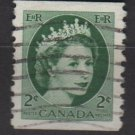 CANADA 1954 - Scott 345 coil used - 2c Queen Elizabeth II(10-346)