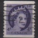 CANADA 1954 - Scott 347 coil used - 2c Queen Elizabeth II  (10-348)