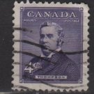 CANADA 1954 - Scott 349 used - 4c, Sir john Sparrow Thompson  (10-349)