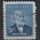 CANADA 1954 - Scott 350 used - 5c, Sir Mackenzie Bowel   (10-351
