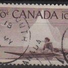 CANADA 1955 - Scott 351 used - 10c, Eskimo & Kayak  (10-353