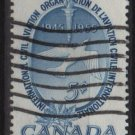 CANADA 1955 - Scott 354 used - 5c, International civil Aviation  (10-359)