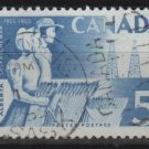 CANADA 1955 - scott 355 used - 5c, Pioneers, Alberta & Saskatchevan   (10-361)