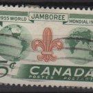 CANADA 1955  - Scott 356  used - 5c, Boy Scout World Jamboree (10-362)