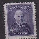CANADA 1955 - Scott 357 used - 4c, Richard Bedford Bennett  (E-650)