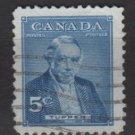 CANADA 1955 - Scott 358 used - 5c, Sir Charles Tupper (E-656))