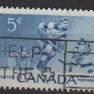 CANADA 1956 - Scott 359 used  - 5c, Ice Hockey players, winter sport (G-147))