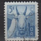 CANADA 1956 - Scott 361 used - 5c,  Mountain Goat  (Red-671)