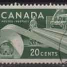 CANADA 1956 - Scott 362 used - 20c, Paper Industry  (T-679)