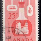 CANADA 1956 - Scott 363 used - 25c, Chemical Industry   (W-271)