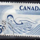 CANADA 1957 - Scott 366  used -  5c, Outdoor Recreeation, Swimming  (10-363)