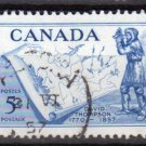 CANADA 1957 - Scott 370 used - 5c, David Thompson & Map  (10-369)